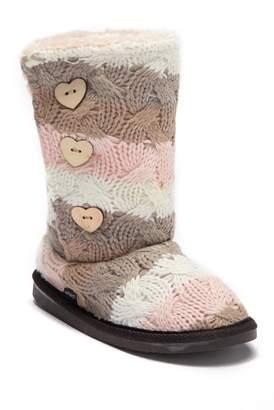Muk Luks Malena Faux Fur Lined Boot (Little Kid)