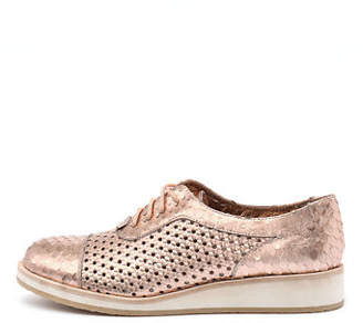 Django & Juliette New Cedric Rose Gold Leather Rose Gold Womens Shoes Casual