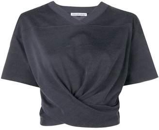 Alexander Wang hem knot cropped t-shirt