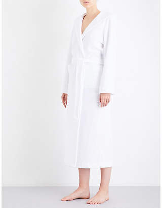 Hanro Hooded towelling robe
