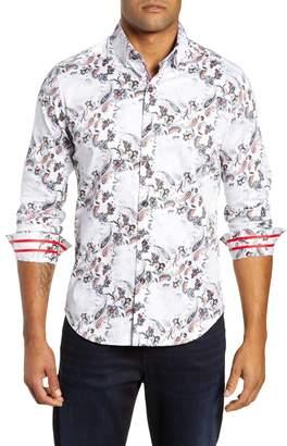 Robert Graham Andale Tailored Fit Paisley Sport Shirt