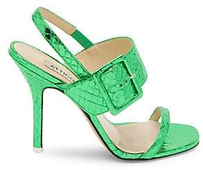 ATTICO Women's Mariah Metallic-Leather Slingback Sandals