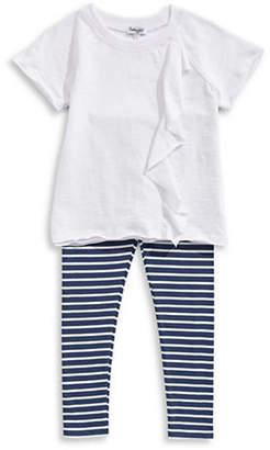 Splendid Striped Leggings and Short Sleeve Tee Set
