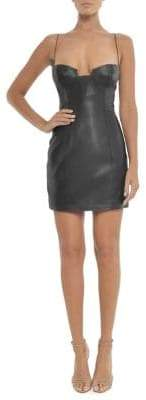 Misha Collection Clarissa Leather Mini Dress