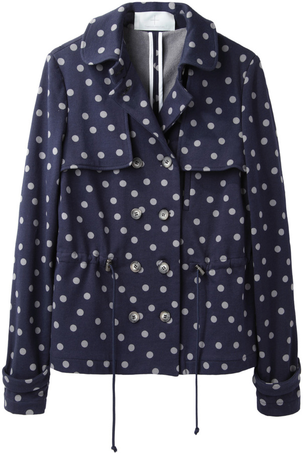 Thakoon short polka dot trench