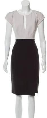 Black Halo Short Sleeve Knee-Length Dress