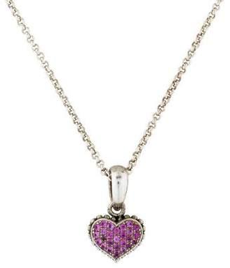 Lagos Sapphire Heart Pendant Necklace