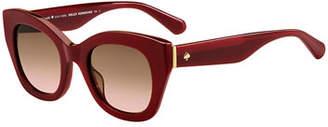 Kate Spade Acetate Cat-Eye Sunglasses