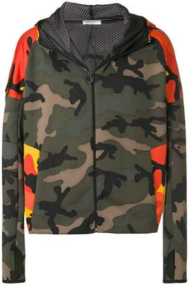 Valentino camouflage-print hooded jacket
