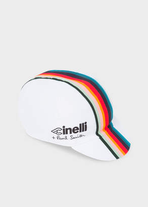 ac29e56deee Paul Smith + Cinelli White  Artist Stripe  Band Cycling Cap