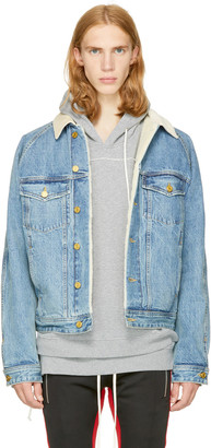 Fear of God Indigo Selvedge Denim Lined Trucker Jacket $1,800 thestylecure.com