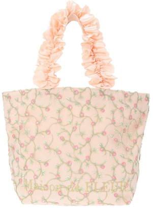 Maison de Fleur (メゾン ド フルール) - Maison de FLEUR ストロベリー刺繍フリルハンドルトートバッグ メゾン ド フルール バッグ