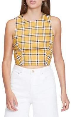13c3a4821e7b04 ... Miss Selfridge Checkered Crop Top