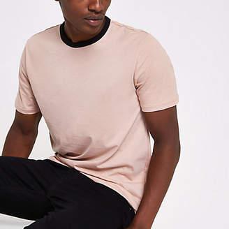 River Island Pink ringer slim fit T-shirt