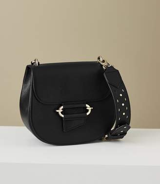 Reiss Maltby - Leather Cross-body Bag in Black