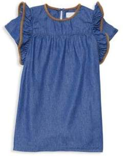 BCBGirls Little Girl's Chambray Ruffle Sleeve Dress