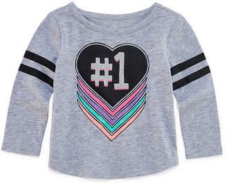 Okie Dokie Long Sleeve T-Shirt-Baby Girl NB-24M