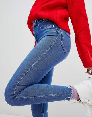 New Look Frayed Hem Skinny Jean
