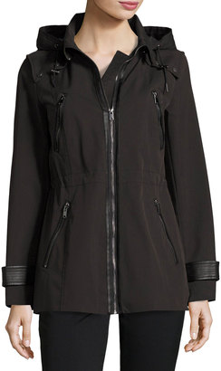 Marc New York by Andrew Marc Talia Tech-Cotton Anorak Jacket, Black $190 thestylecure.com