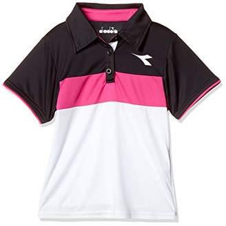Diadora (ディアドラ) - [ディアドラ] DTJ8398 JRゲームシャツ(ジュニア) テニスシャツ レディース ホワイト 日本 140 (日本サイズ140 相当)