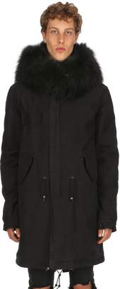 Mr & Mrs Italy Hooded Coated Cotton Parka W/ Fur Trim