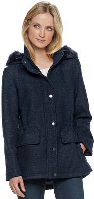 Details Women's Faux-Fur Hooded Anorak Jacket