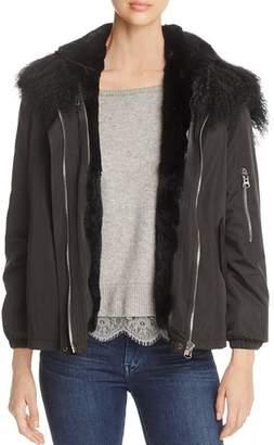 Maximilian Furs Rabbit Fur Lined Jacket - 100% Exclusive