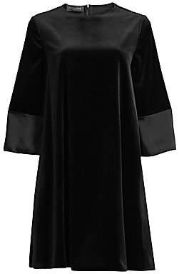 Piazza Sempione Women's Stretch-Velvet Shift Dress