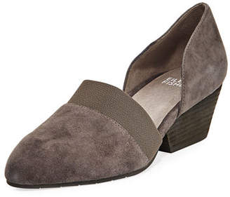 Eileen Fisher Hilly Demi-Wedge Suede Pump