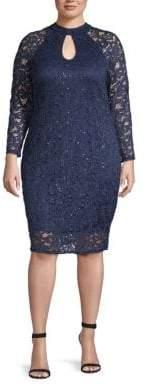 Marina Plus Lace Sheath Dress