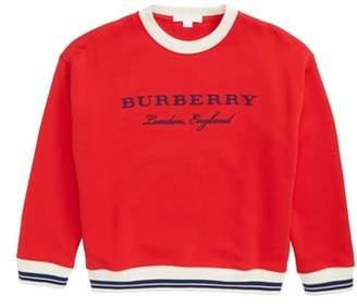 Burberry Eli Stripe Jersey Sweatshirt
