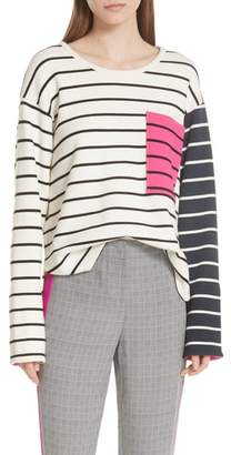 Jason Wu GREY Stripe Pocket Tee