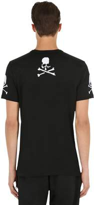 Skull Embroidered Jersey T-Shirt