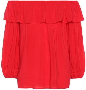 Velvet Ibby off-the-shoulder crepe top