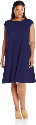 Tiana B Women's Plus Size Line Rayon Spandex Dress with Cap Sleeves