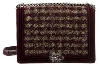 Chanel XL Paris-Edinburgh Tweed Boy Flap Bag beige XL Paris-Edinburgh Tweed Boy Flap Bag