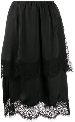 Lanvin scalloped midi skirt