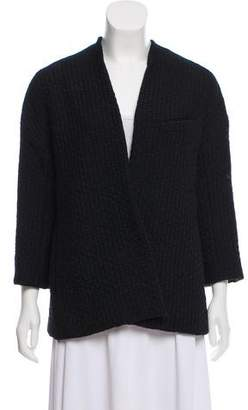 Calvin Klein Collection Tweed Surplice Jacket