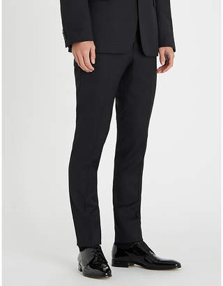 Tiger of Sweden Slim-fit skinny wool-jacquard trousers