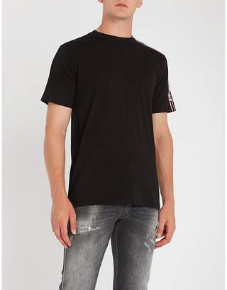 Replay Logo-stripe cotton-jersey T-shirt