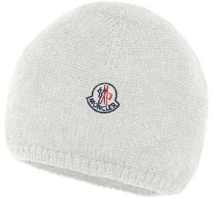 Moncler Kids' Logo-Patch Knit Virgin Wool Beanie Hat