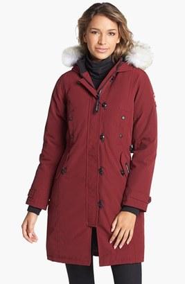 Women's Canada Goose Kensington Slim Fit Down Parka With Genuine Coyote Fur Trim $895 thestylecure.com