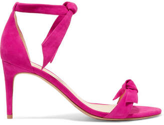 Alexandre Birman Clarita Bow-embellished Suede Sandals - Magenta