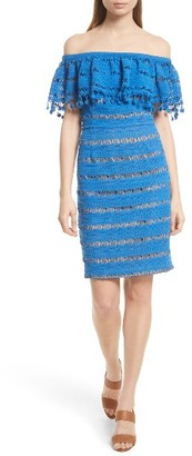 Women's Tracy Reese Off The Shoulder Crochet Dress $298 thestylecure.com