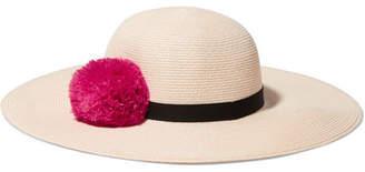 Eugenia Kim Honey Feather-embellished Woven Paper Hat - Ivory