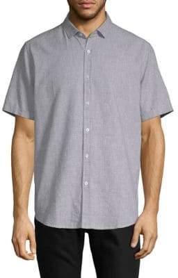 Saks Fifth Avenue Short Sleeve Cotton Linen Shirt