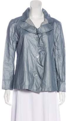 Armani Collezioni Notch-Lapel Button-Up Blazer
