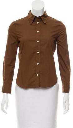 Bottega Veneta Woven Button-Up Top