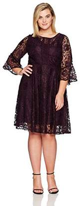 Julian Taylor Women's Plus Size Lace Fit and Flare Dress