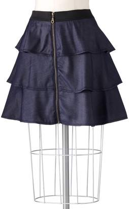 Elle Tiered Chambray Skirt
